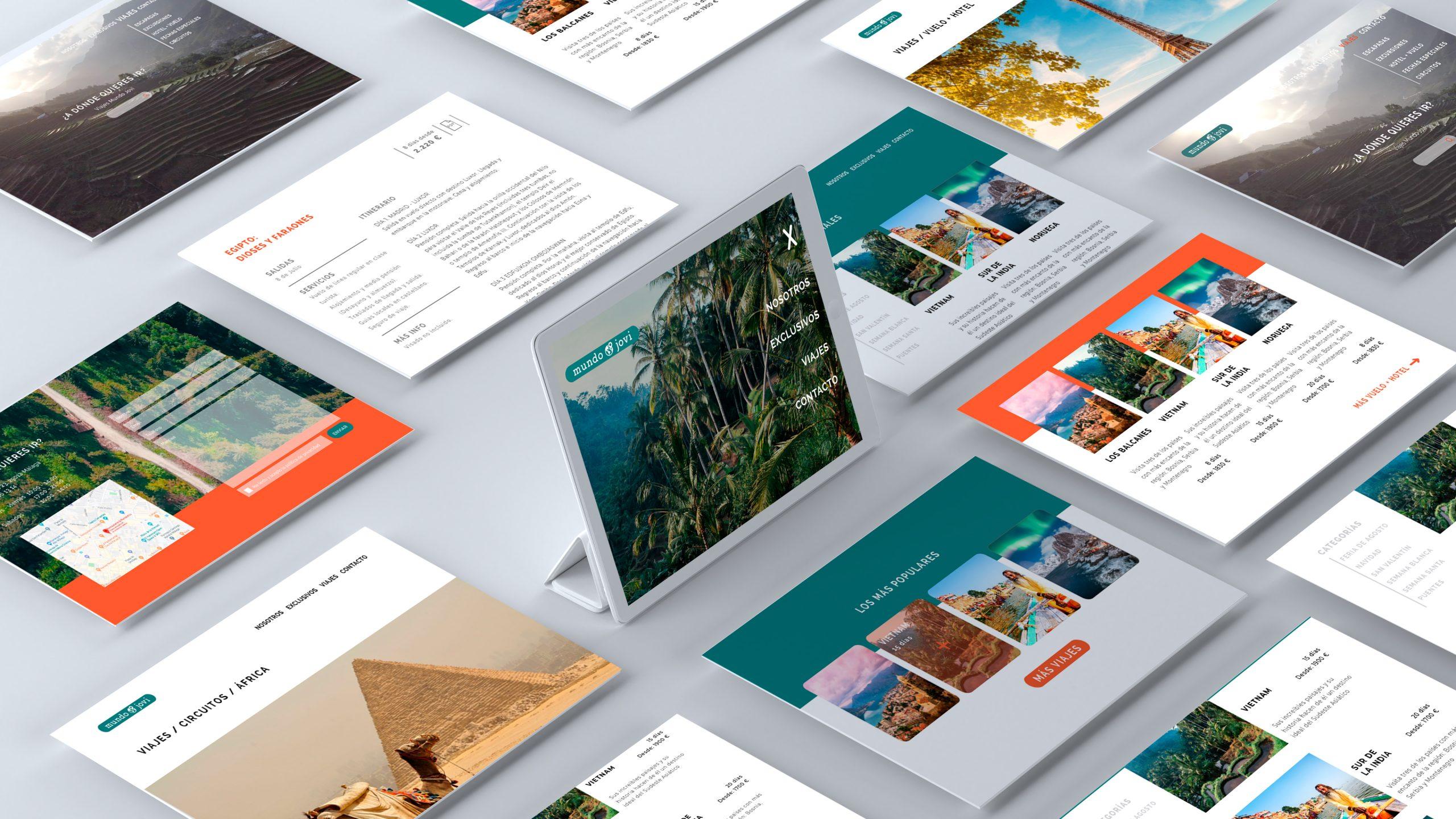 La Mujer de Kennedy Málaga diseño web UX/UI ecommerce Viajes Mundo Jovi