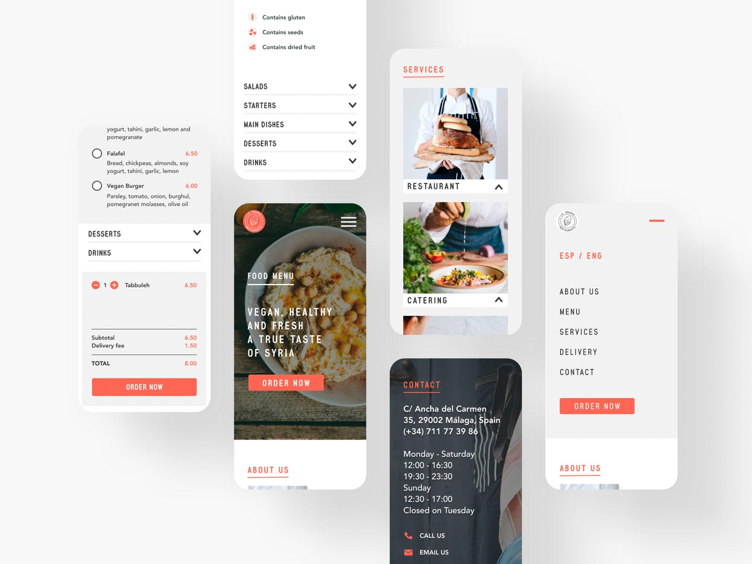 La Mujer de Kennedy Málaga diseño web UX/UI restaurante La Vegana
