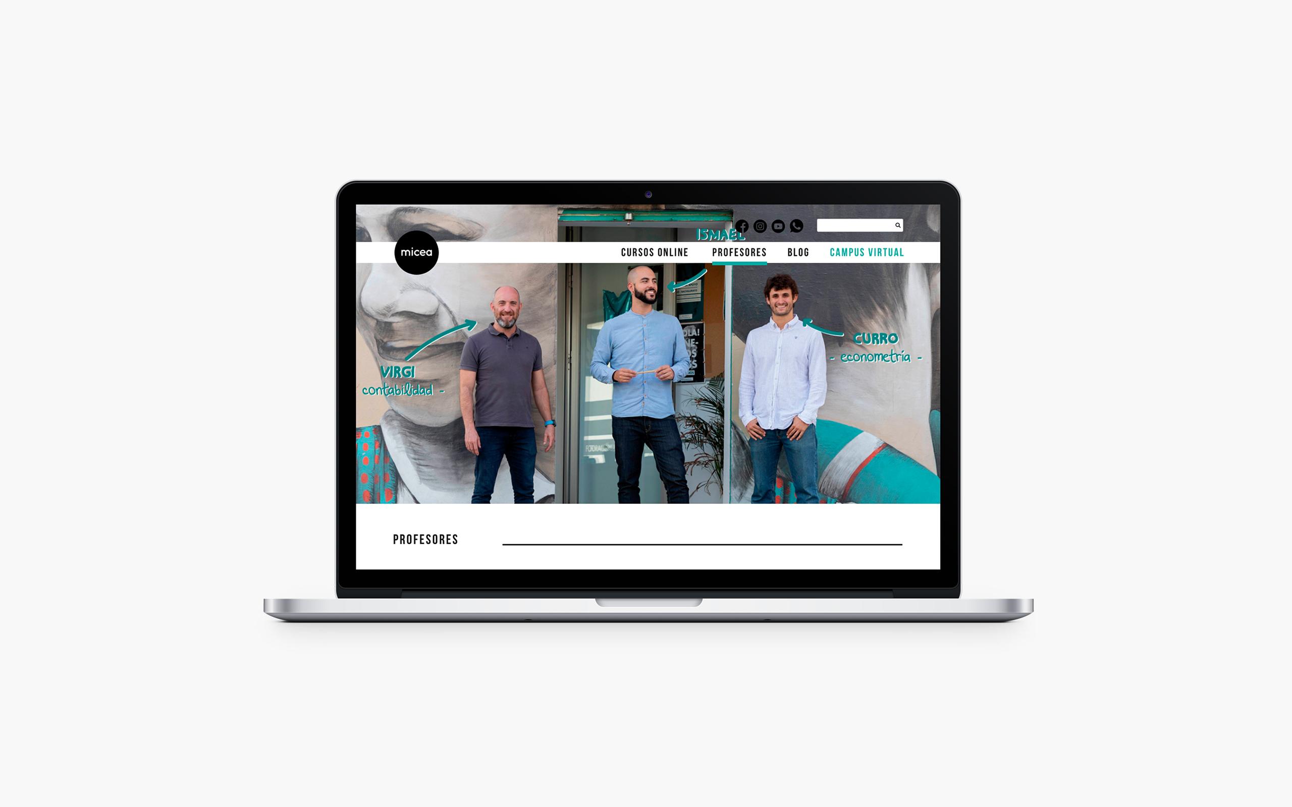 La Mujer de Kennedy Málaga diseño web escuela Micea